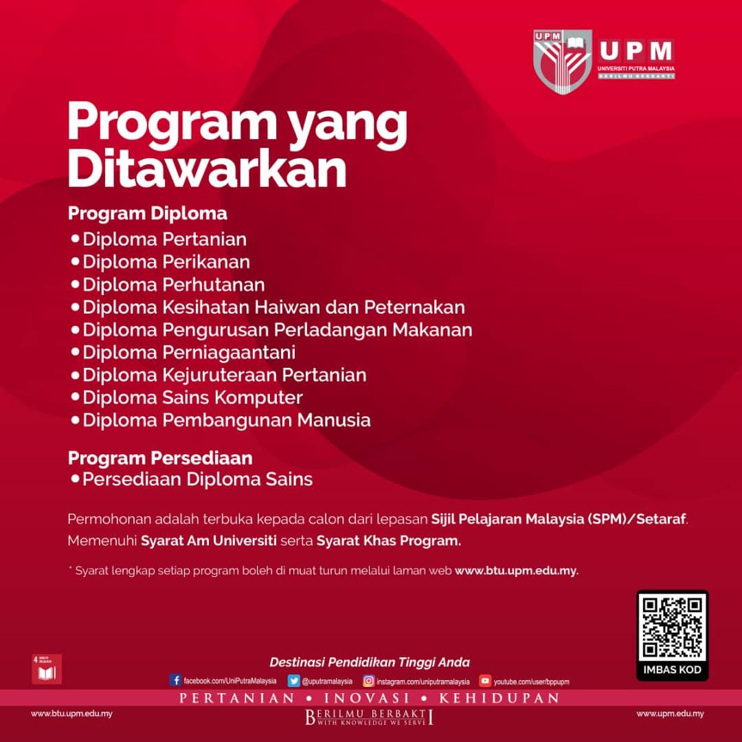 Permohonan Kemasukan Mengikuti Program Prasiswazah Sesi Akademik 2020 2021 Universiti Putra Malaysia Bintulu Sarawak Campus